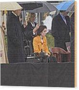 Former Us President Bill Clinton Wood Print