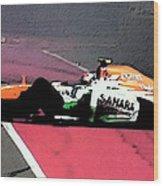 Formula 1 Grand Prix Crash Wood Print