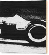 Formula 1 Racer In Action Wood Print
