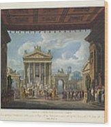 Foro Di Pompei Festivamente Adorno Wood Print