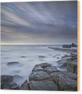 Forresters Beach Sunrise 1 Wood Print by Steve Caldwell