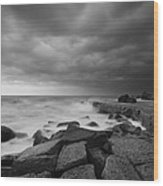 Forresters Storm Wood Print by Steve Caldwell