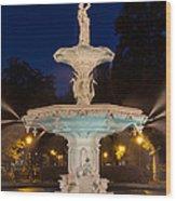 Forsyth Park Fountain Savannah Georgia Wood Print