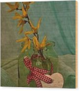 Forsythia Yellow Bells Wood Print