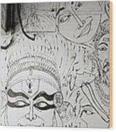 Cochin Graffiti Wood Print