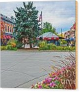 Fort Collins Fall Wood Print by Baywest Imaging