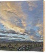 Fort Collins Sunset Wood Print