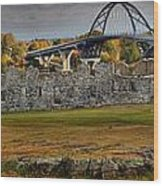 Fort Crown Point At Lake Champlain Wood Print