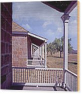 Fort Davis Perspective Wood Print