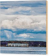 Fort Gorges Wood Print