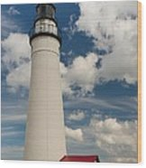 Fort Gratiot Lighthouse And Clouds Wood Print