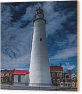 Fort Gratiot Lighthouse From The Water Side Wood Print