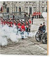 Fort Henry Battle Wood Print