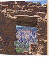 Fort Jemez Adobe Window Wood Print
