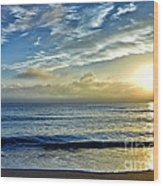Fort Lauderdale Beach At Sunrise Wood Print