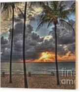 Fort Lauderdale Beach Florida - Sunrise Wood Print