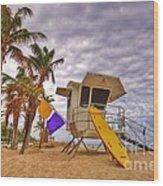 Fort Lauderdale Lifeguard Station Wood Print