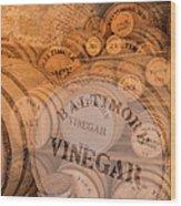 Fort Macon Ration Barrels Wood Print
