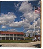 Fort Mchenry Parade Ground Barracks Wood Print