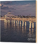 Fort Myers Beach Fishing Pier Wood Print