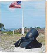 Fort Pickens Flag Wood Print