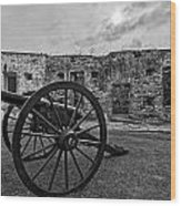 Fort Pike Cannon Wood Print
