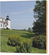Fort Point Light Maine Wood Print
