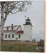 Fort Point Lighthouse 9239 Wood Print