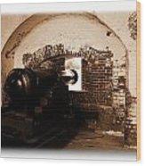 Fort Pulaski Canon Sepia Wood Print