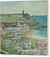 Fort San Felipe Del Morro From Fort San Cristobal Pr Wood Print