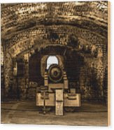 Fort Sumter Famous Cannon Wood Print by Optical Playground By MP Ray