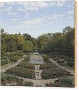 Fort Worth Arboretum Wood Print