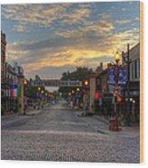 Fort Worth Stockyards Sunrise Wood Print