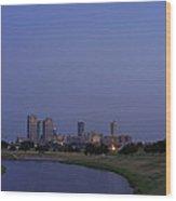 Fort Worth Sunset Skyline Wood Print