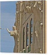 Fort Worth's Angels Wood Print