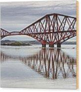 Forth Bridge Reflections Wood Print