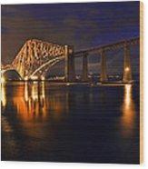 Forth Rail Bridge At Sunset Wood Print