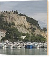 Fortress And Harbor Cassis Wood Print