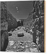 Fortress Of Masada Israel 2 Wood Print by Mark Fuller