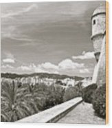 Fortress Overlooking Palma De Majorca Wood Print