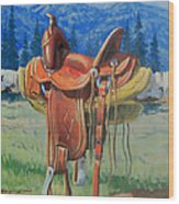 Forty Dollar Saddle Wood Print