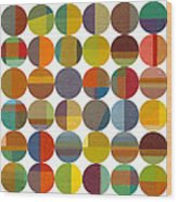 Forty Eight Circles 2.0 Wood Print