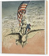 Forward America Wood Print