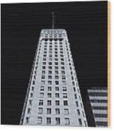 Foshay Tower  Mono Wood Print