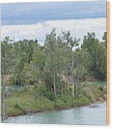 Fossil Prairie Panoramic Wood Print
