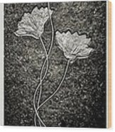 Fossilized Flowers Wood Print