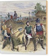 Founding Of St Wood Print