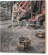 Foundry Worker Wood Print