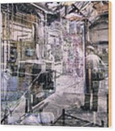 Foundry Workers Wood Print