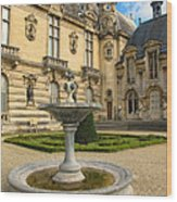 Fountain At Chateau De Chantilly Wood Print